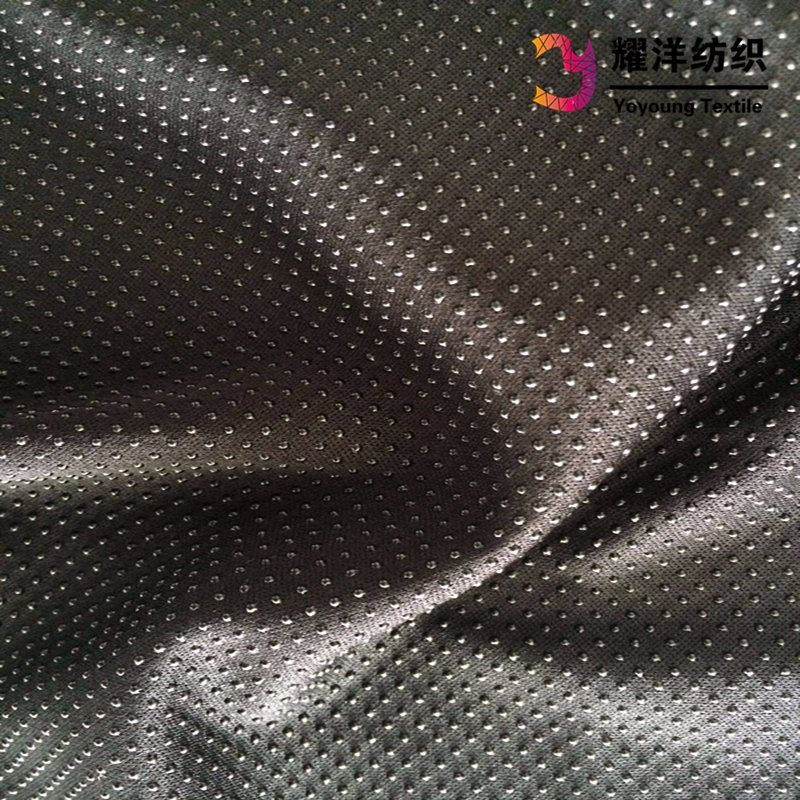 Non Slip PVC DOT Knitted Fabric for Cycling Gloves pictures & photos