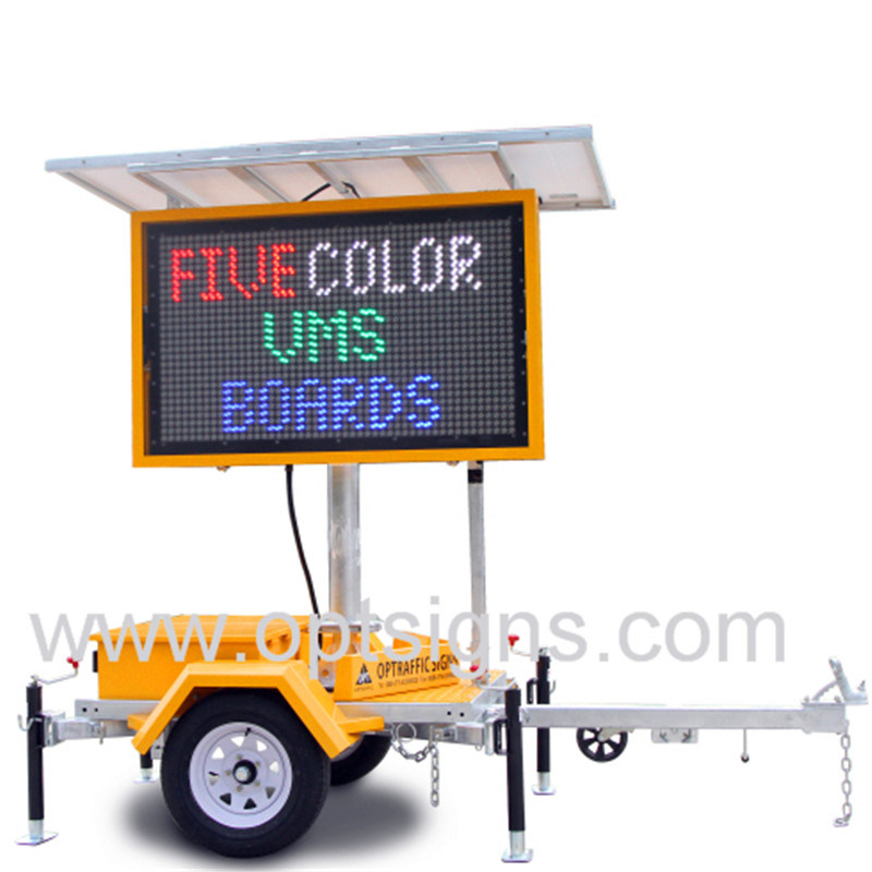 China Outdoor Traffic Programmable Dynamic Variable Message Board Vms Display Led Mobile Signs Trailer