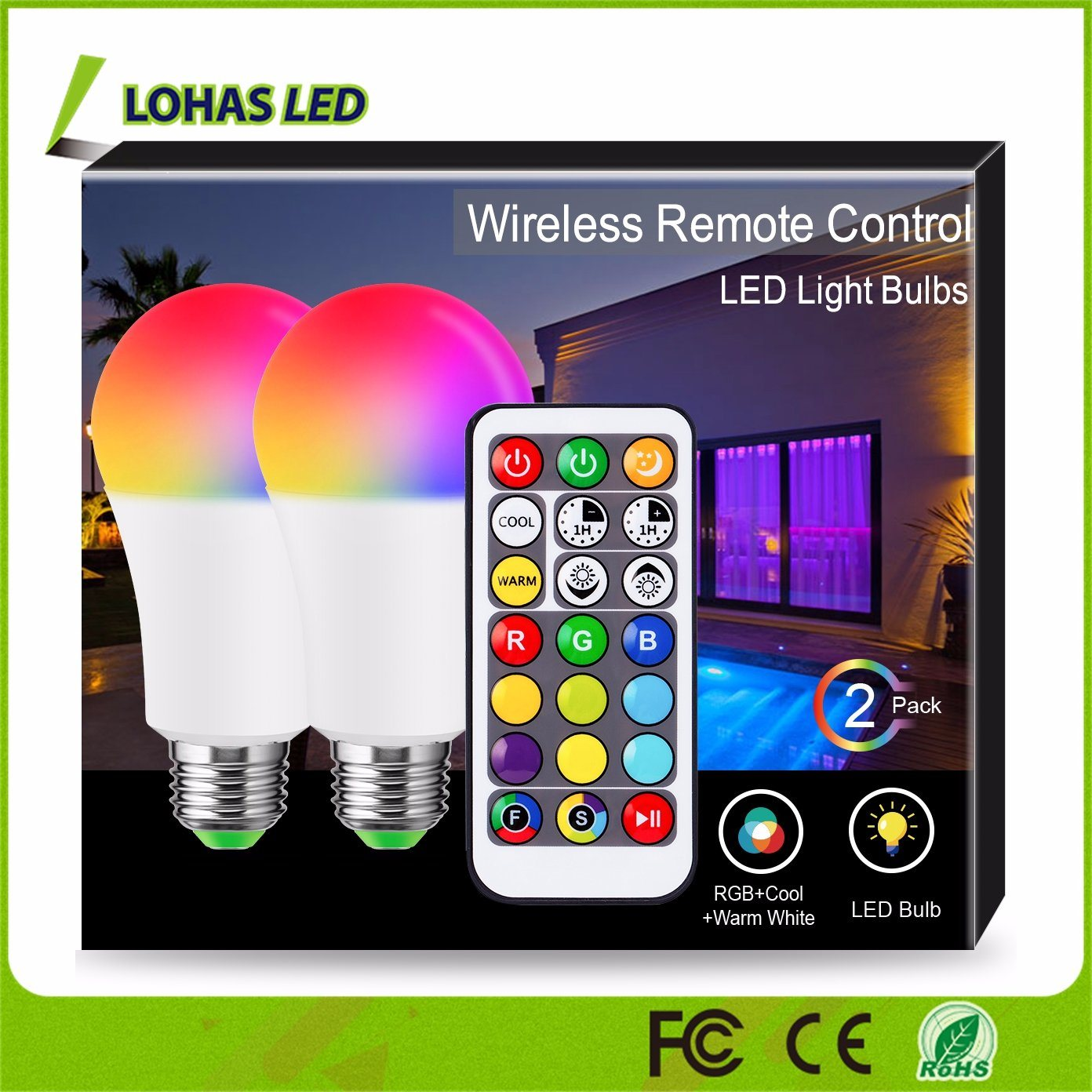 Color Changing Rgb Led Bulb Light