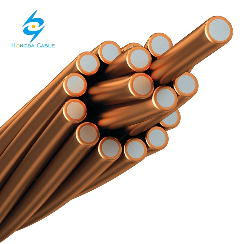 73.87 mm2 CCS 40% Conductivity 7#7AWG Strand Copper Clad Steel Wire pictures & photos