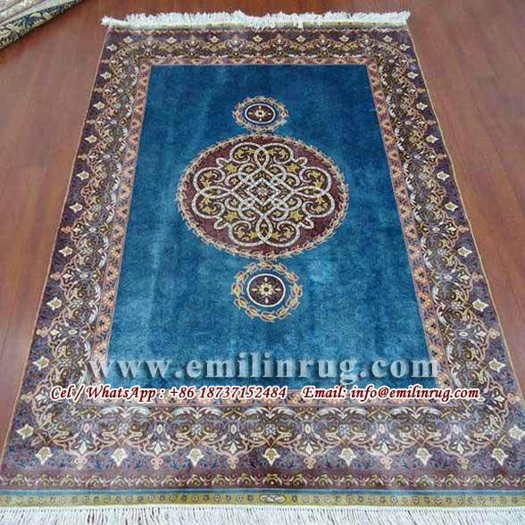 Hand Knotted Persian Silk Rugs 4x6