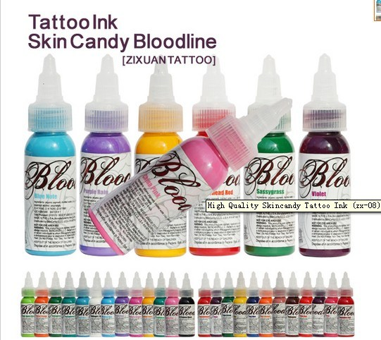 China High Quality 24 Colors Skin Candy Tattoo Ink Body Pigment ...