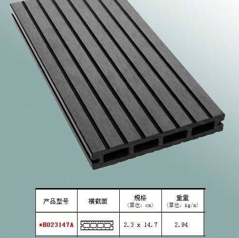 Outdoor Waterproof Wood Plastic Composite Decking / WPC Outdoor Decking (HO023147) pictures & photos