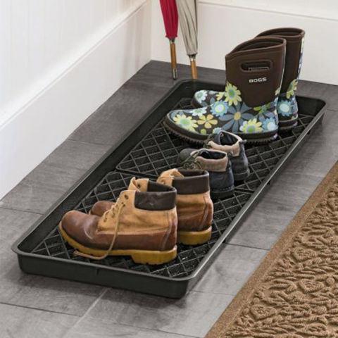 Superbe Indoor Outdoor Entrance Entry Entryway Doorway Rubber Shoe Boot Tray