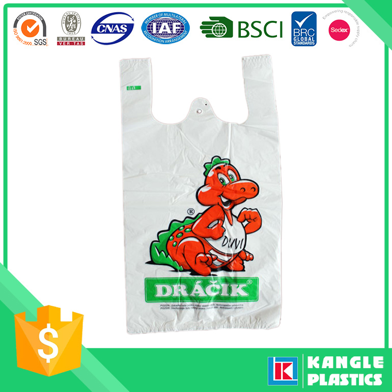 Plastic Compostable Shopping Bag with Printing