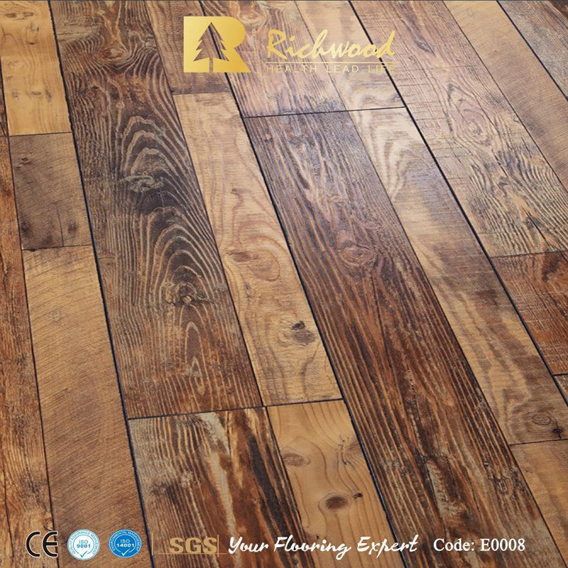 China Commercial 12 3mm E1 Eir Elm, Moisture Resistant Laminate Flooring