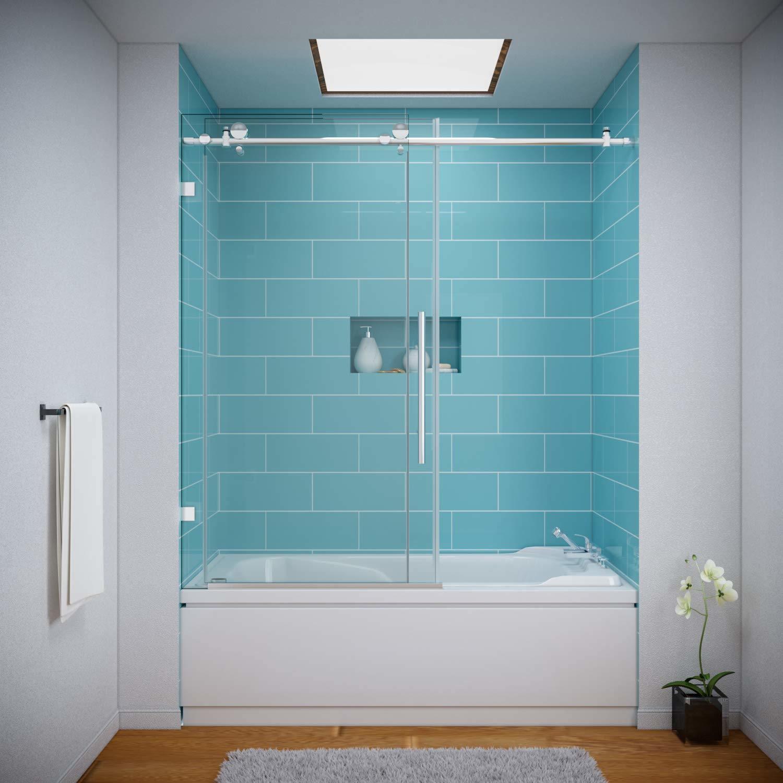 Sally 10mm 3 8in Frameless Sliding Shower Door Bathtub China Shower Enclosure Glass Shower Door Made In China Com