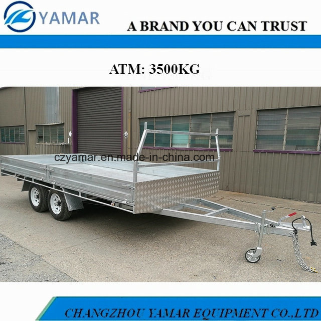 3.5t Dual Axle Flat Top Trailer pictures & photos