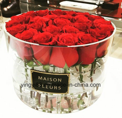 Custom Waterproof Clear Acrylic Plastic Flower Rose Jewelry Chocolate Shoe Cigar Wedding Candy Honor Display Box pictures & photos