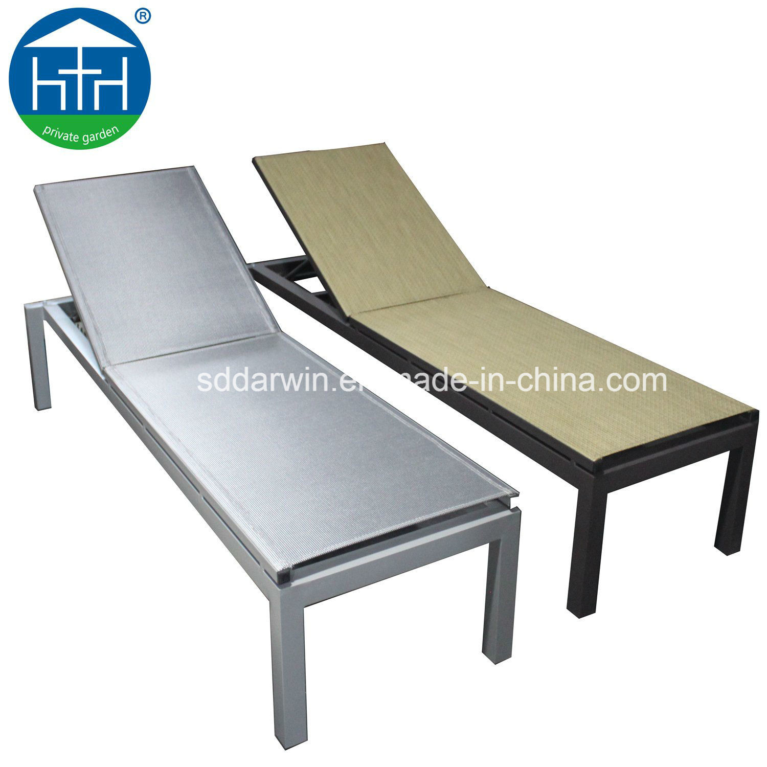 - China Modern Colorful Mesh Fabric And Aluminum Chaise Lounge For