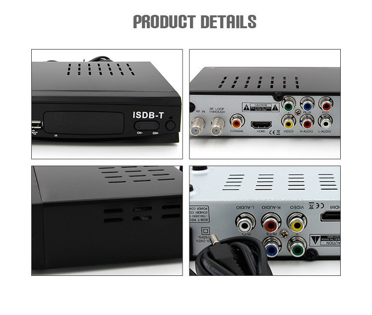 OEM Good Quality Free to Air Tuner 2k HD MPEG4 Mstar ISDB-T Digital TV Receiver Ecuador