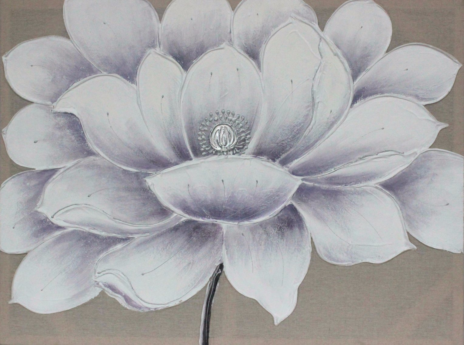 China Oil Canvas Painting Lotus Flower For Home Decoration China