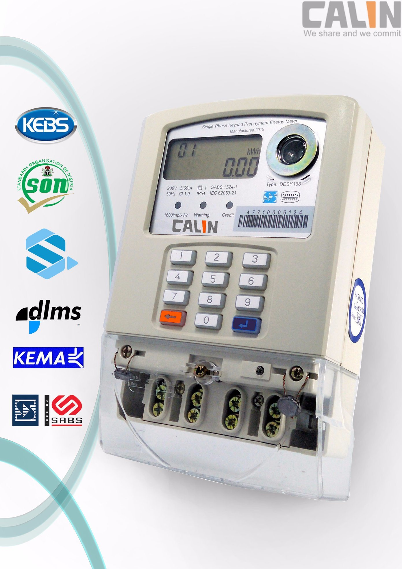 Single Phase Keypad Prepaid/Prepayment Energy Meter