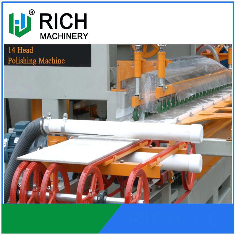 China High Speed Tile Ceramic Polishing Machine With 14 Head China