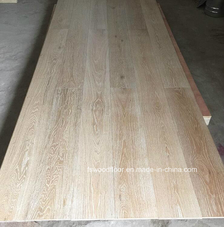 Limed Wirebrushed Uv Lacquered Timber