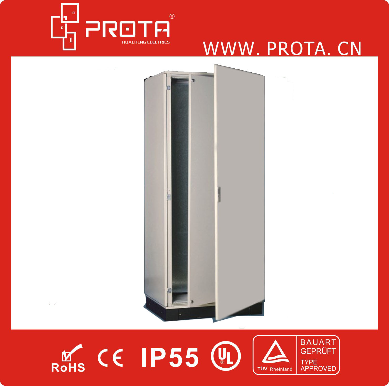 Pri9 Floor Standing Metal Electrical Cabinet W/T Inner Door