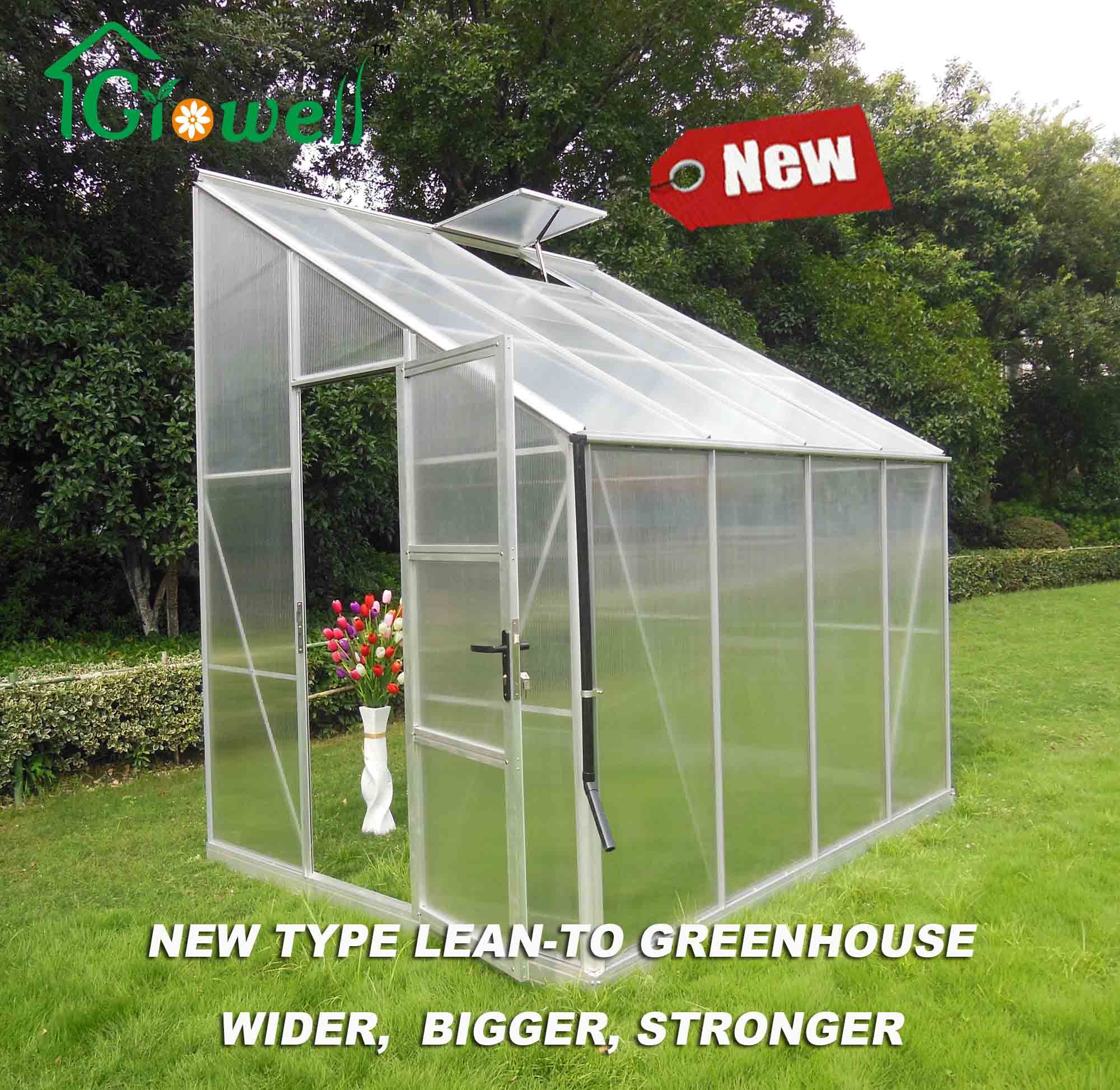 10mm Polycarbonate DIY Lean to Greenhouse