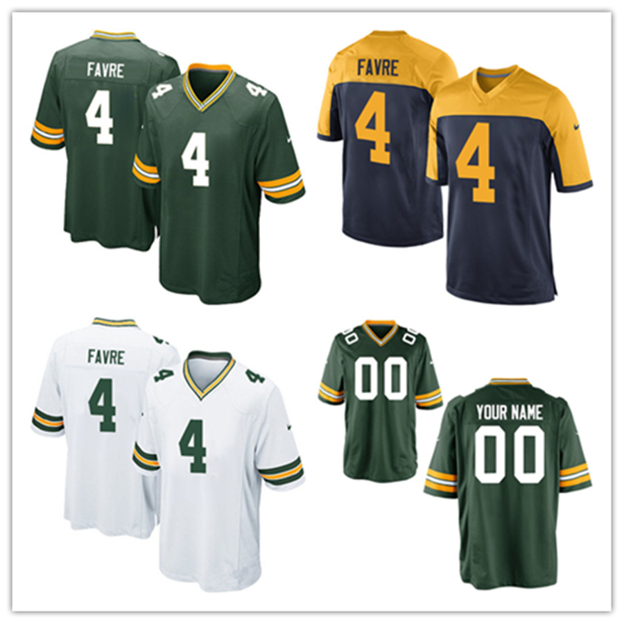 online retailer 6f055 4ee72 [Hot Item] Men Women Youth Packers Jerseys 4 Brett Favre Football Jerseys