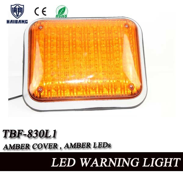 Amber Ambulance Surface Mount Big Square LED Flash Light (TBF-830L1)