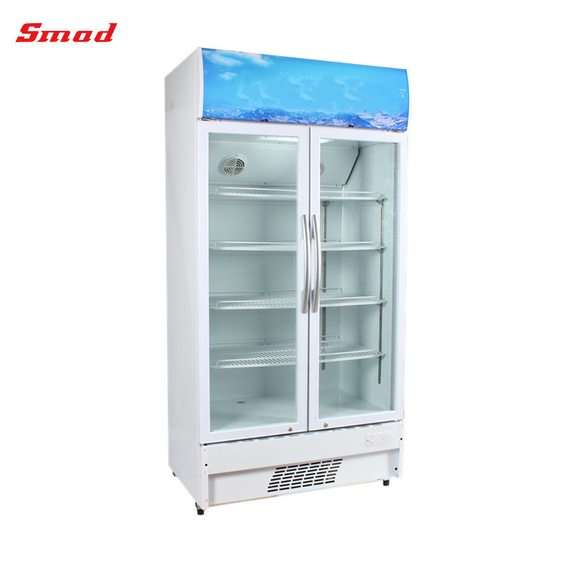 China Upright Single Glass Door Display Refrigerator Showcase Photos