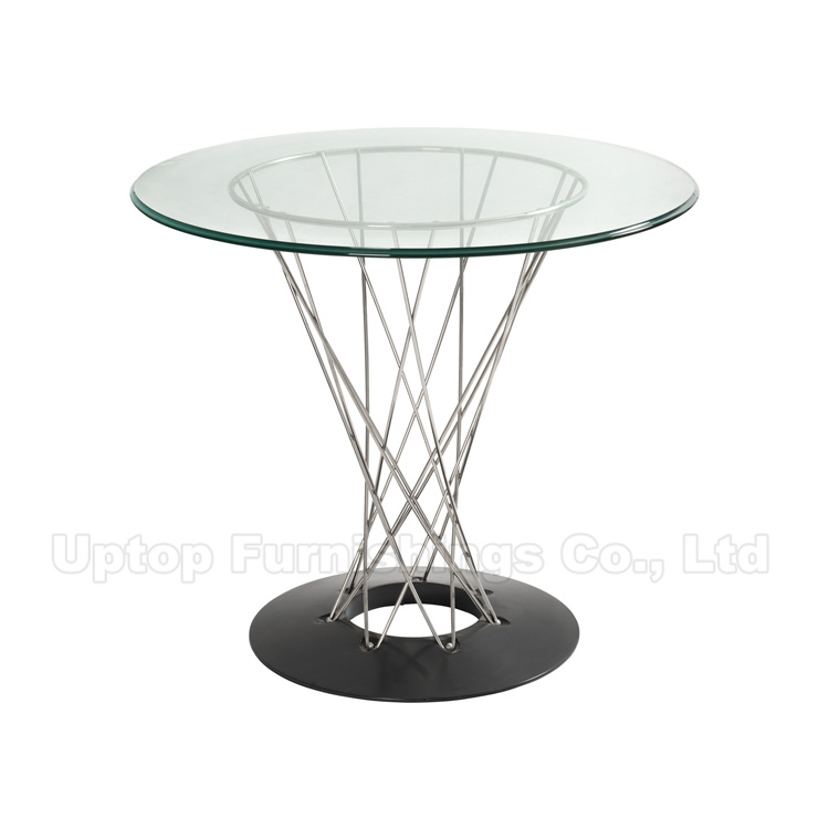 Hot Item Round Tempered Glass Isamu Noguchi Table Sp Gt392