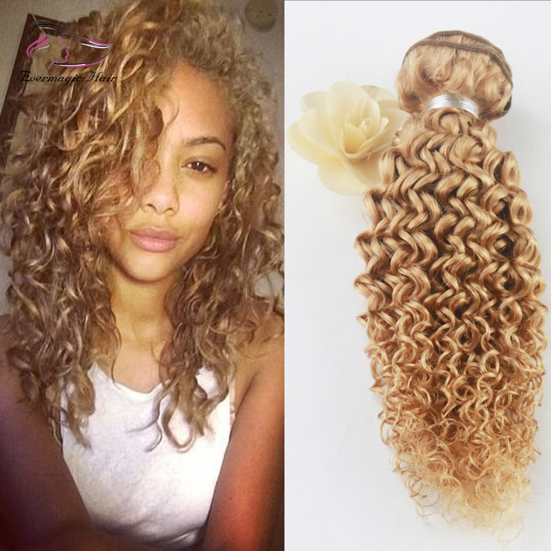 China Different Style 8a Grade Afro Kinky Curly Hair Pure Color 27