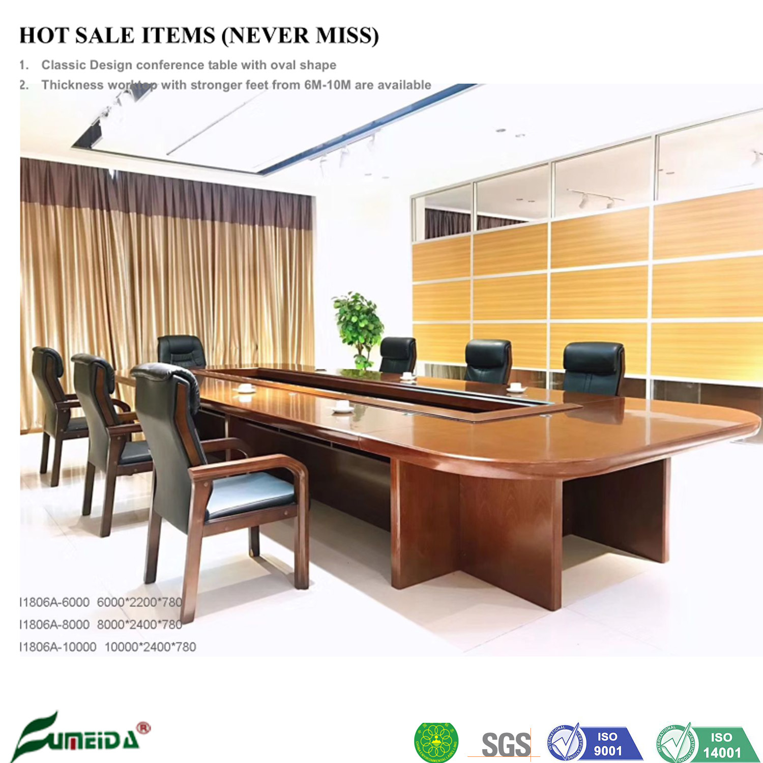 [Hot Item] Chinese Luxury Desk Furniture High Quality Executive Office  Meeting Room Modern Conference Table