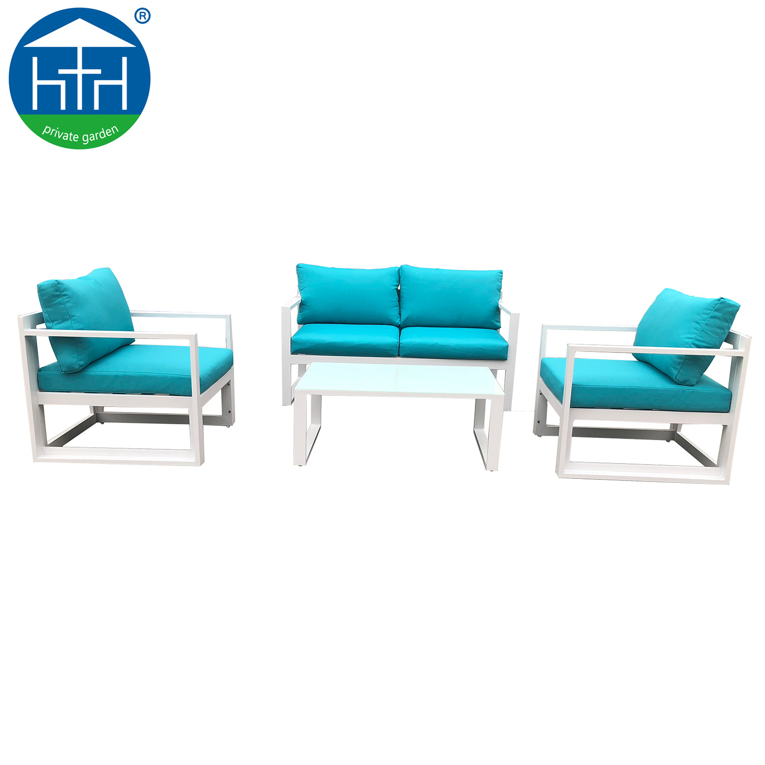 China Patio Furniture Sofa Set Outdoor Garden With Color