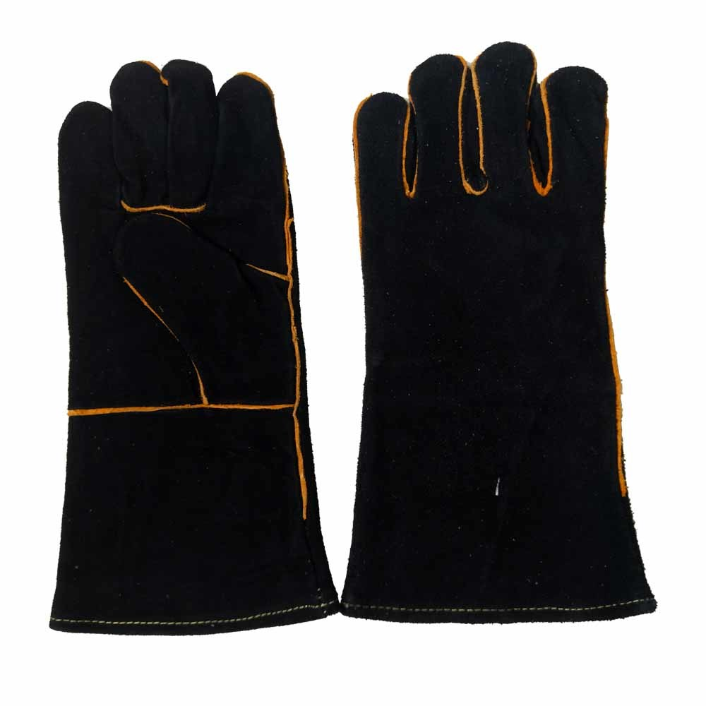 With Or Without Lining Black Cow Split Leather Gauntlet Tig Welding Gloves China Work Gloves China Working Gloves And Elding Work Barbecues Gloves Price