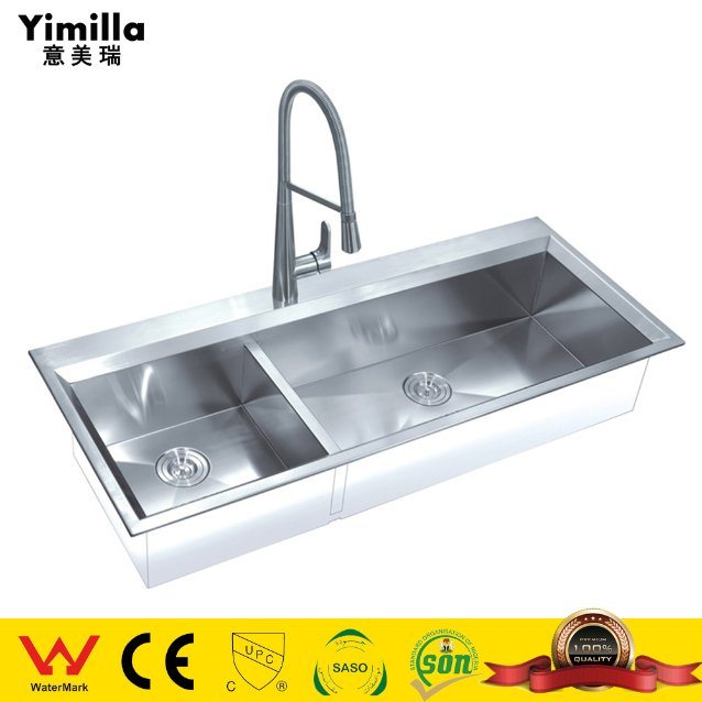 China Big Size Brushed Stainless Steel Double Bowls Kitchen Sink China Kitchen Products Kitchen Sink