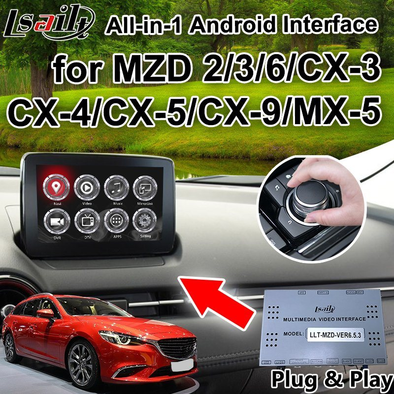 All-in-1 Plug&Play Android 6 0 7 1 8 0 GPS Navigation System for Mazda Cx-3  Cx-4 Cx-5 Cx-9 with Carplay, Google Play Yandex Waze