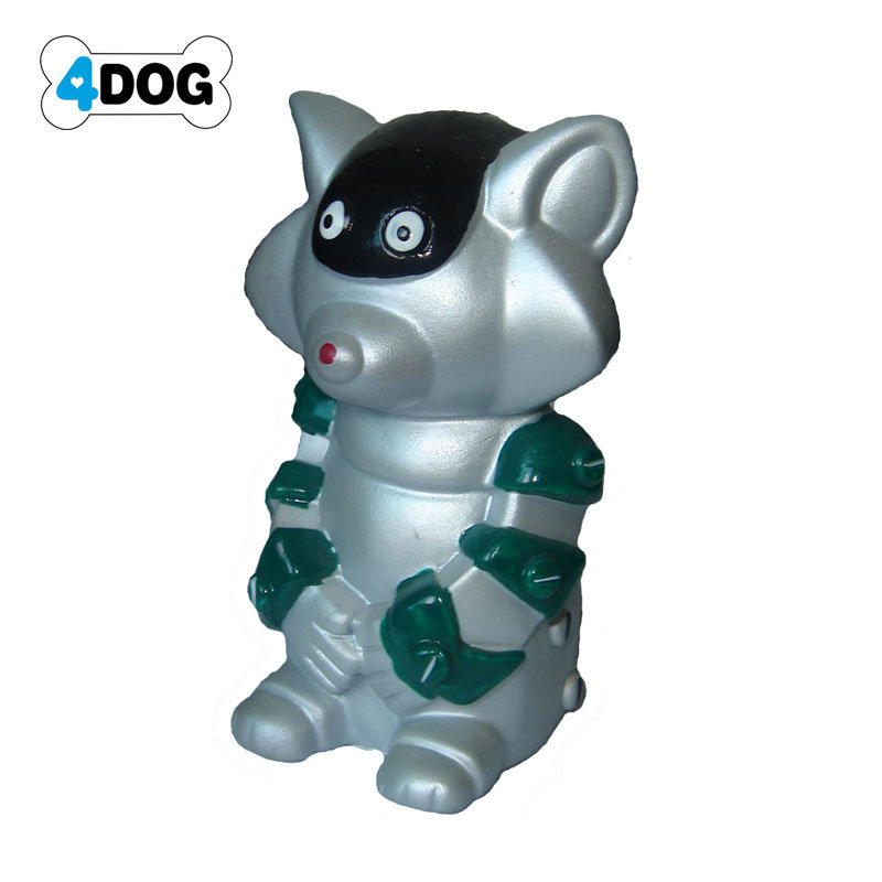 Robot Cat Toy >> China Rubber Robot Cat Toy With Squeaker Great Dog Fetch Toys
