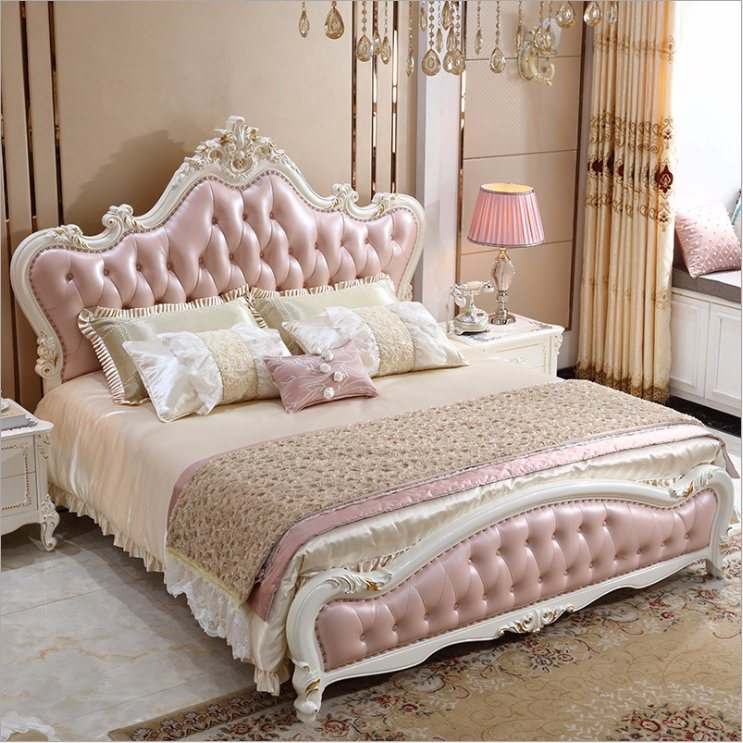 China Classic Bedroom Furniture Set Wooden Bed Hb008 Photos ...