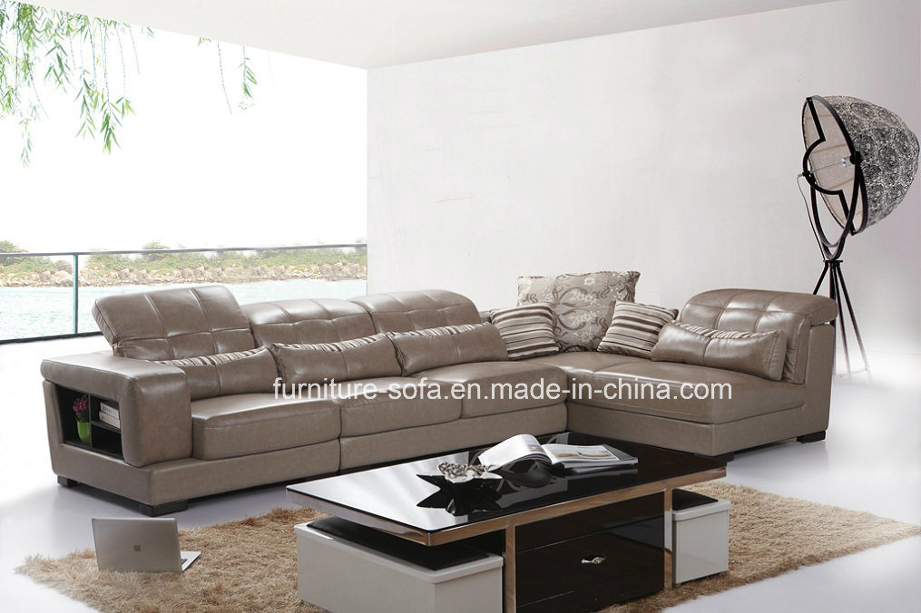 Low Back Leather Sofa Set