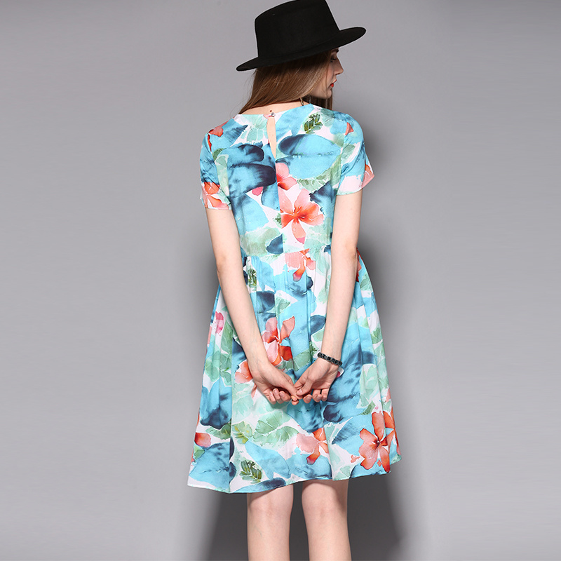 Short Sleeve Soft Light Sweet Silk Party Women Lady Dress Clothing pictures & photos