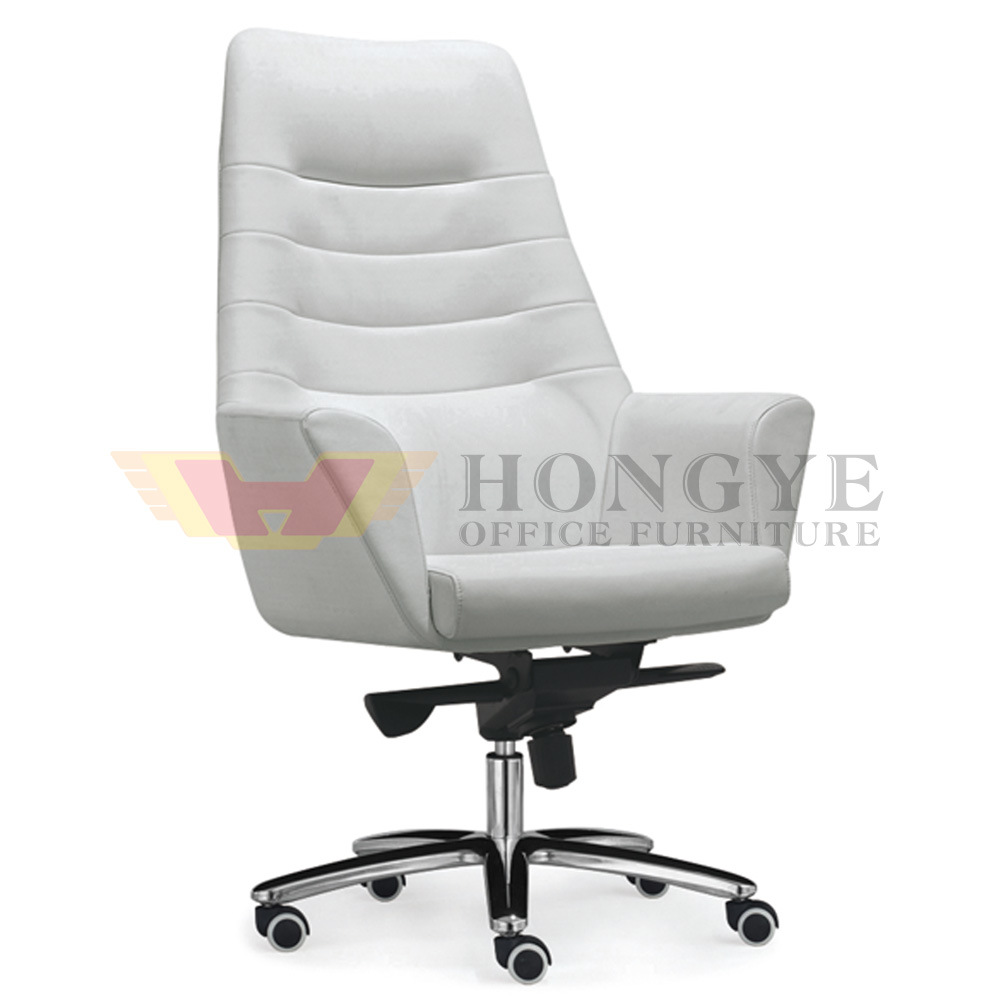 [Hot Item] Fashion Rotary Leather White Color Chinese Made Executive Chair  (HY-KT38-38)