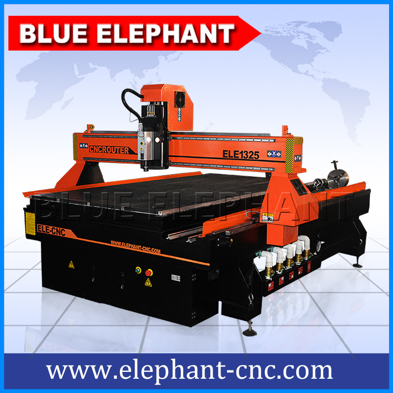 Heavy Duty 1325 CNC Router China Blue Elephant, 3D CNC Wood Router, 4 Axis CNC Wood Engraving Machine pictures & photos