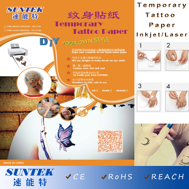China Fashion Body Art Design Stickers Removable Waterproof Temporary Tattoo Paper China Tattoos Paper Transfer Paper