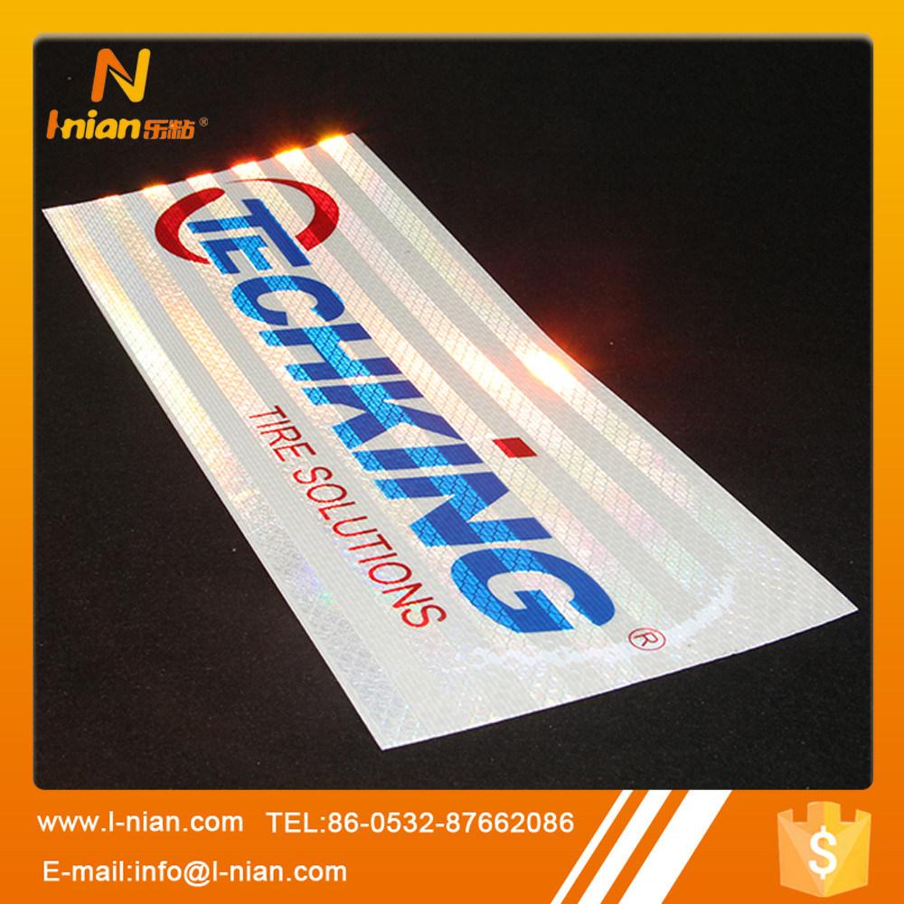 Hot item custom printing 3m reflective sticker for tyre
