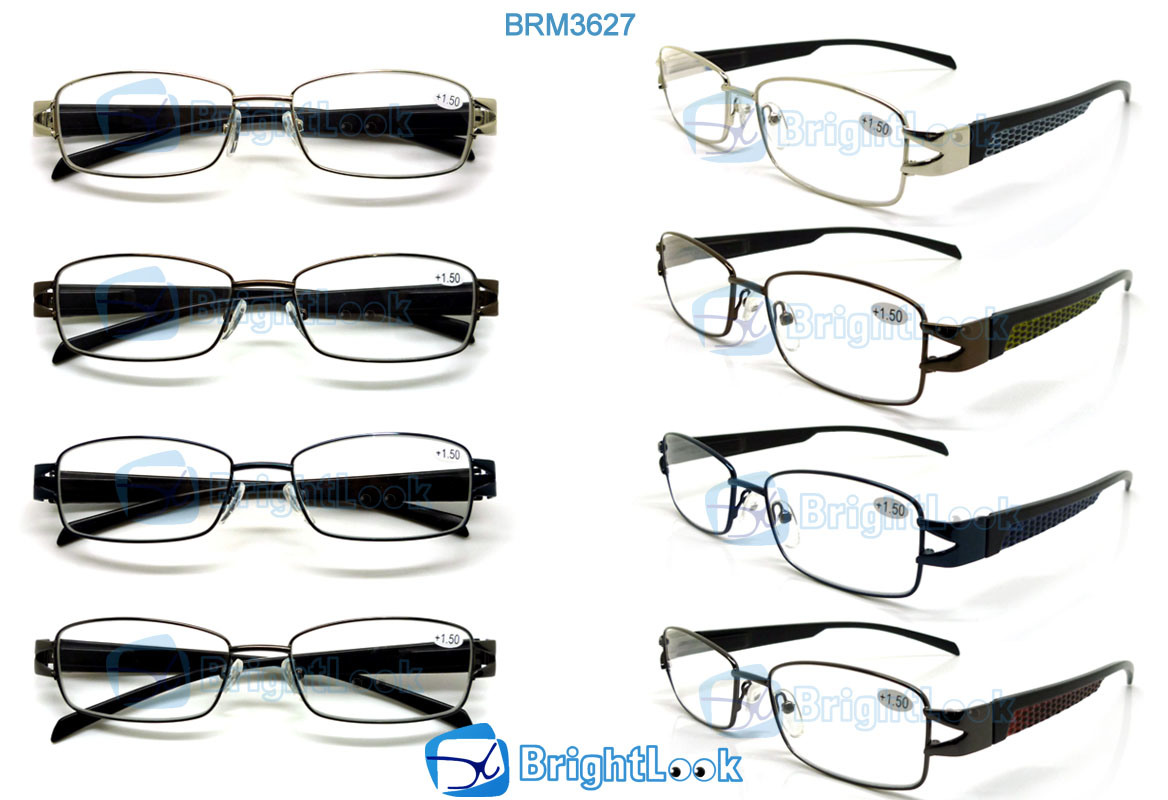 0bda7538142c China Fashion Metal Reading Glasses with Half Frame (BRM3627) - China  Memory Reading Glasses