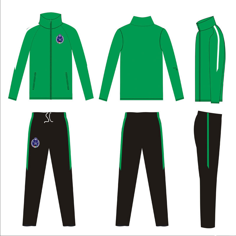Logo Embroidered Solid Color Dye Custom Men Sports Tracksuit pictures & photos