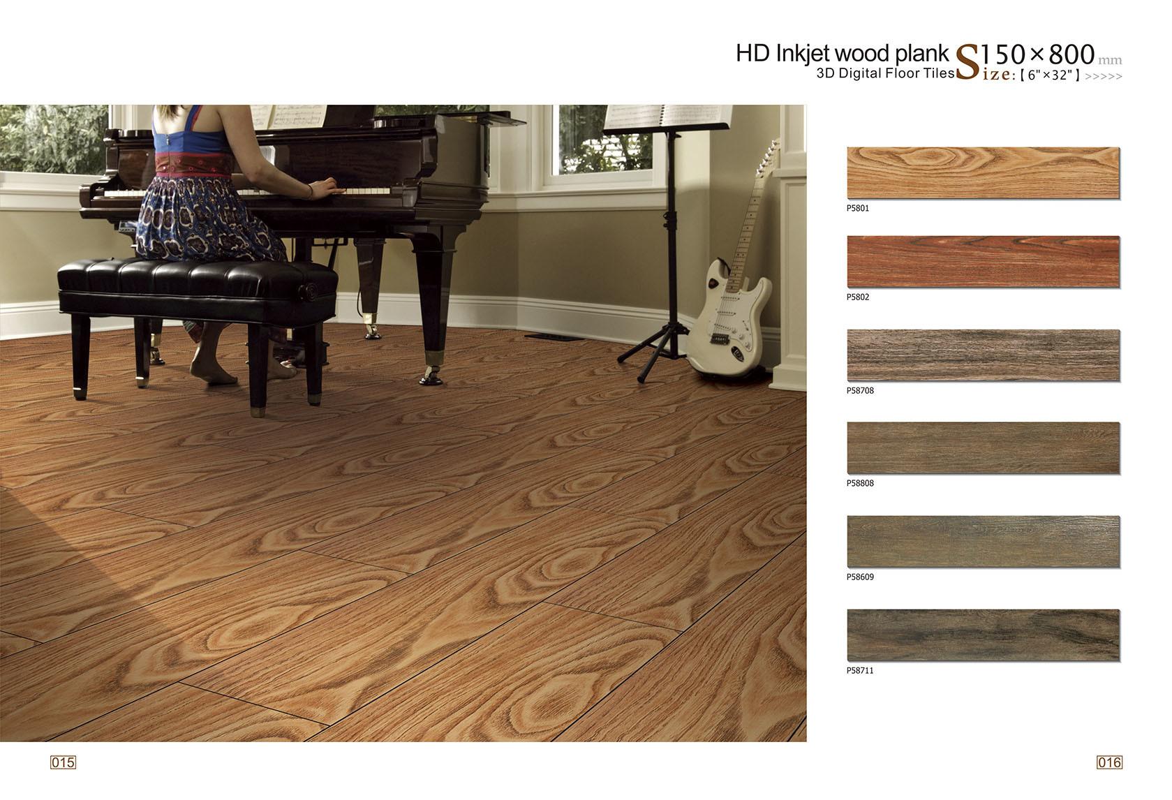 China Hot Sell Glazed Wood Finish Porcelain Floor Tile P5801