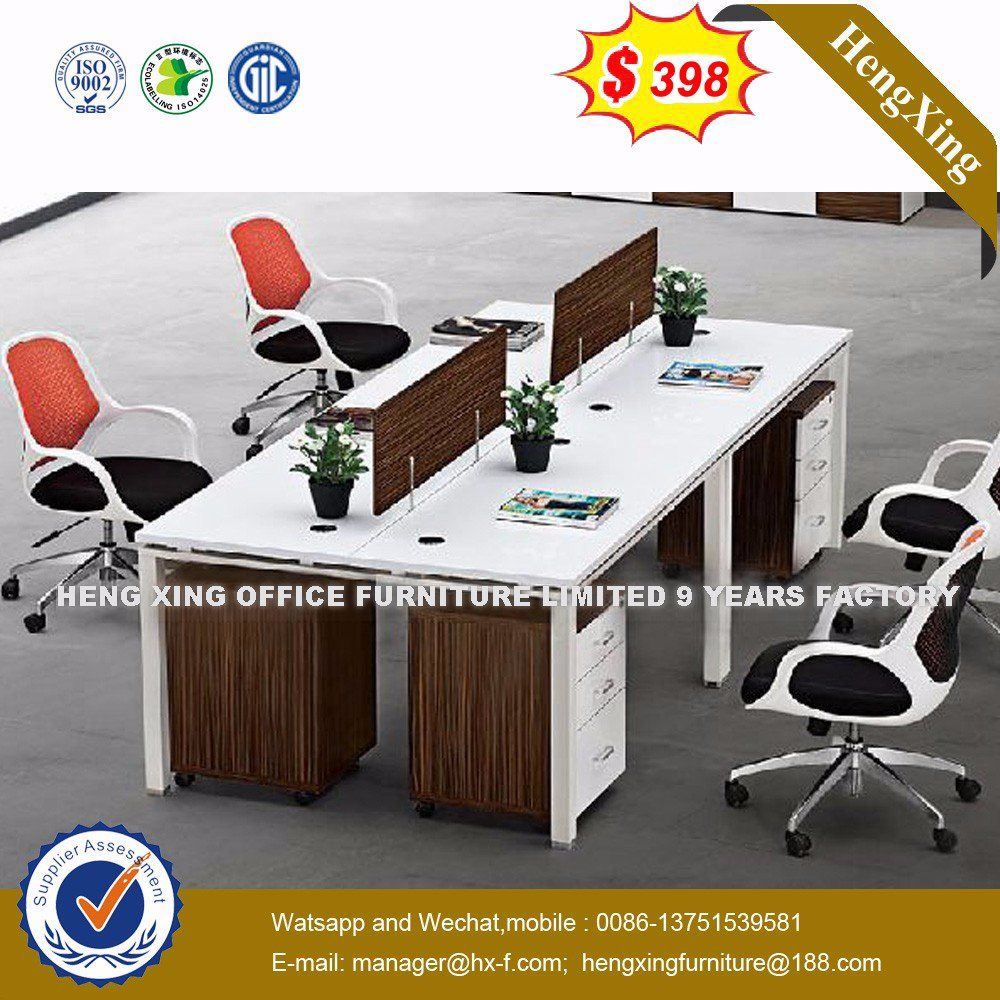 China Modern Style White Color Melamine Office Workstation With Mobile Pedestal Hx 8n9012 Desk Partition