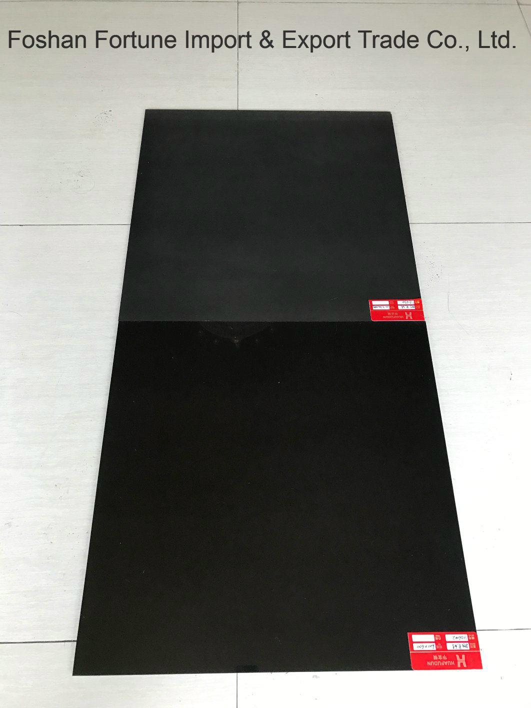 China Ceramic Building Material Super Black Polished Porcelain Floor