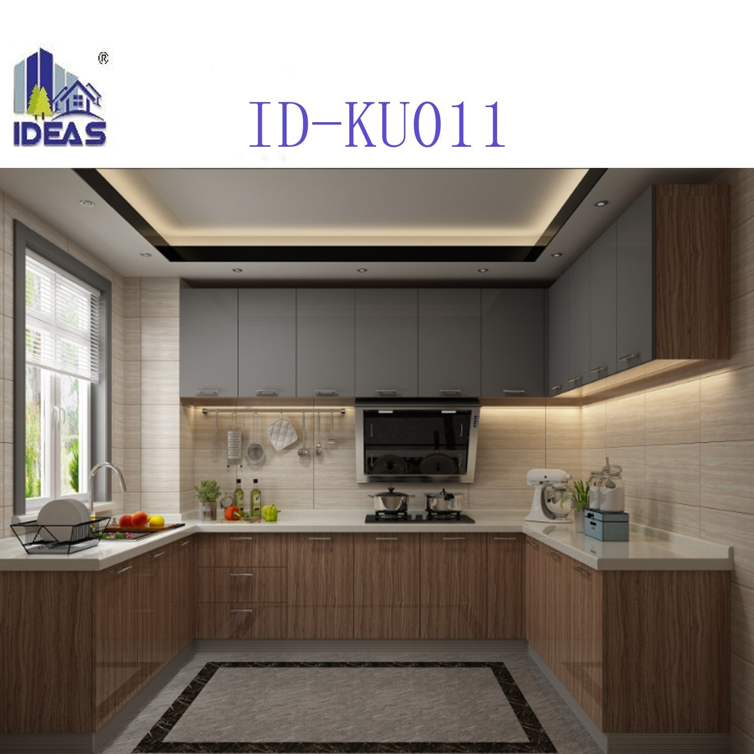 Modern UV High Gloss Designs Kitchen Cabinet Sets Made in China ...