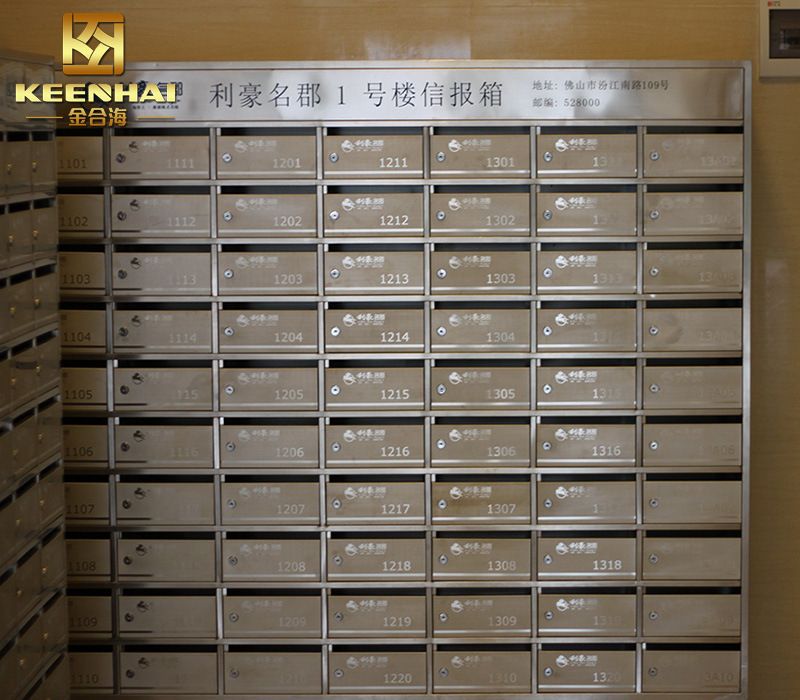 China Custom Made Waterproof Residential Stainless Steel Apartment Letter Box Mailbox