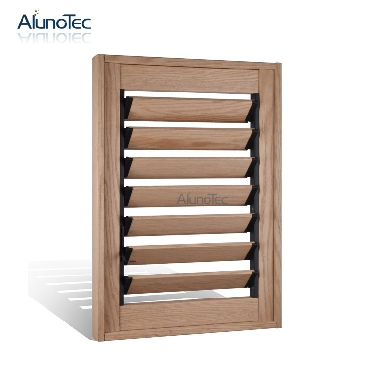 China Timber Wood Louver Window For Sale