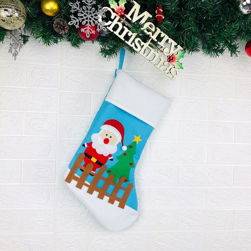 Wholesale Plush Christmas Stocking for Christmas Decorations