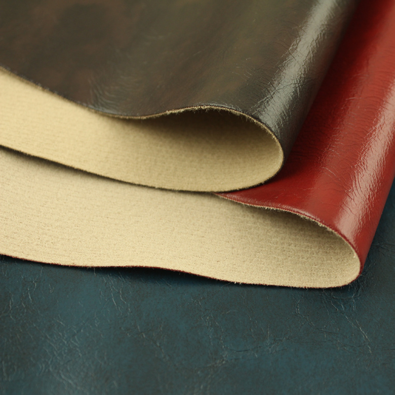 Oil Waxy Synthetic Leather Upholstery
