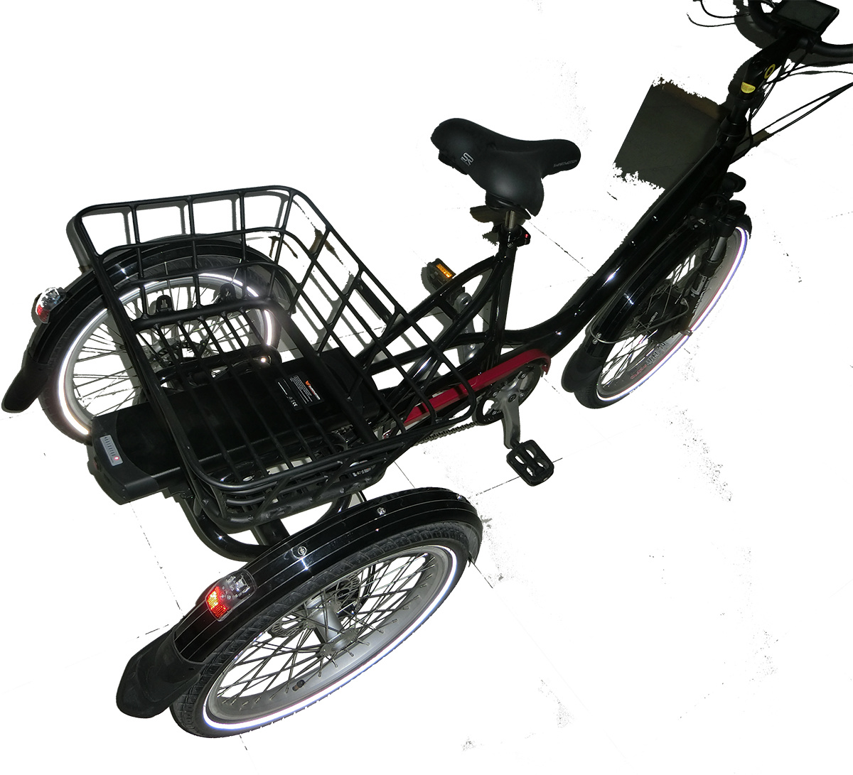 26 Inch 48V 35ah Pedal Assist Fat Tire Three Wheel Electric Bicycle / Cargo Electric E Tricycle with Large Basket pictures & photos